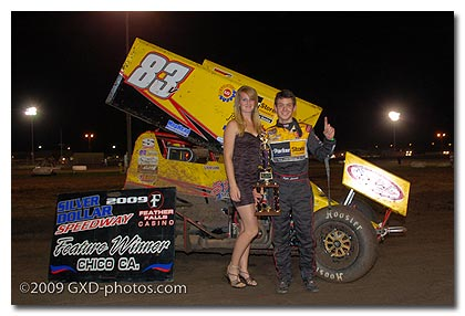 Kyle Larson Gets First Career 410 Sprint Main Win