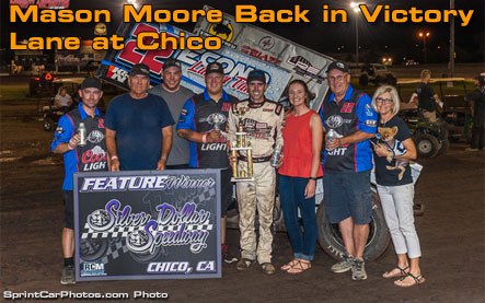 Mason Moore Back in Victory Lane at Chico
